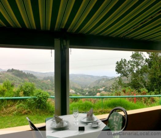 The covered terrace at Restaurante Arcos de la Laguna
