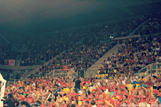 Gran Canaria Arena had a capacity crowd for the Spain-Senegal basketball friendly