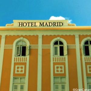 Hotel Madrid under trademark blue sky