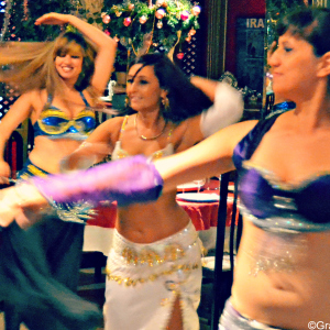 You'll also find belly dancing on Restaurante Tehran's menu