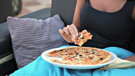 The pizzas at Moonlight Cinema are freshly prepared