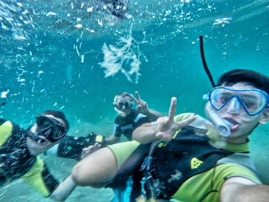 Snorkelling, it's what families do on Gran Canaria