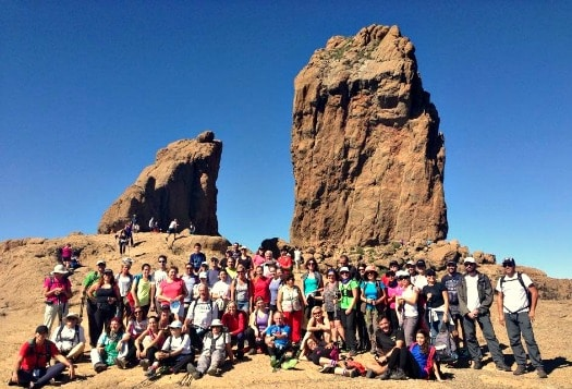 The Gran Canaria Walking Festival included a hike to Roque Nublo