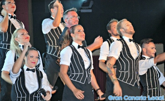 Garbo's waiters double as the entertainers