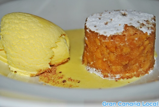 Apple crumble a la Restaurante Krystal