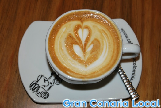 Coffee art at Café Regina