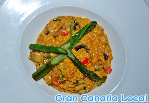 The vegetarian paella at Español