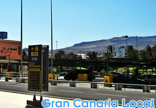 Gran Canaria airport and another blue sky