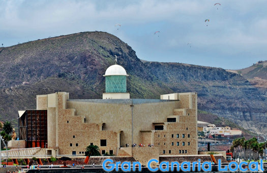 The Auditorio marks the start of Las Canteras beach
