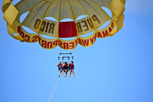 Gran Canaria Local go parasailing on Gran Canaria with Canary WaterSports