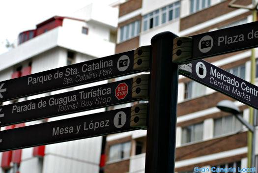 Mesa y López signpost