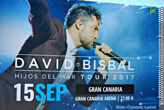 Things to do on Gran Canaria in September 2017 include watching David Bisbal play live.