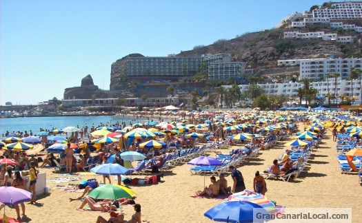 The beach at Gran Canaria's Puerto Rico