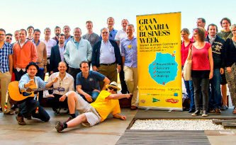 The players at Day 4 of the Gran Canaria Business Walk 2014