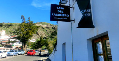 The entrance of Casa Del Caminero, Tejeda
