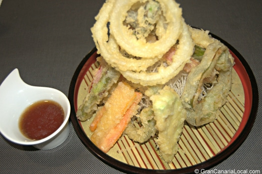 Hito Restaurante's tower of tempura