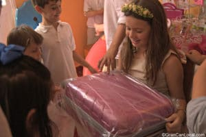 Elena receives another communion present