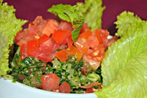 Restaurante Tehran's signature starter's a parsley salad