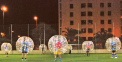 Bubble football, it's not your average kickabout