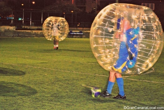 You're never too old for Bubble Football