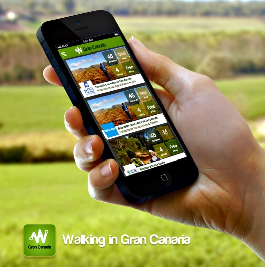 Walking in Gran Canaria application