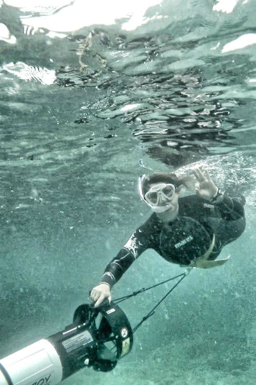 Snorkelling doesn't get much more stylish than with a sea scooter