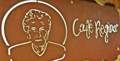 Café Regina, named after the owner's grandmother