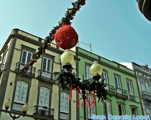Xmas decorations in Triana, Las Palmas