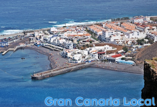 The port of Agaete runs regular ferry services to Tenerife