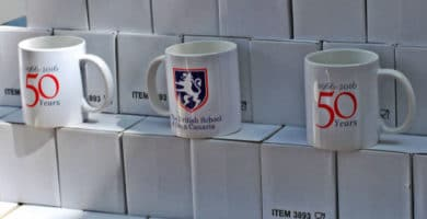 The British School of Gran Canaria 50th anniversary mug