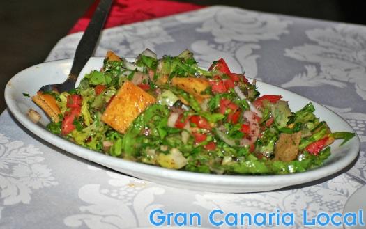 Los Cedros do a mean salad