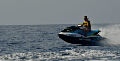 Our Dani felt the need for speed on his Atlantic Wake jetski