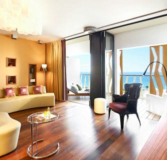 The living area at Bohemia Suites' Star Sky Suite