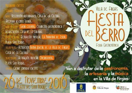 Fiesta del Berro 2016 running order