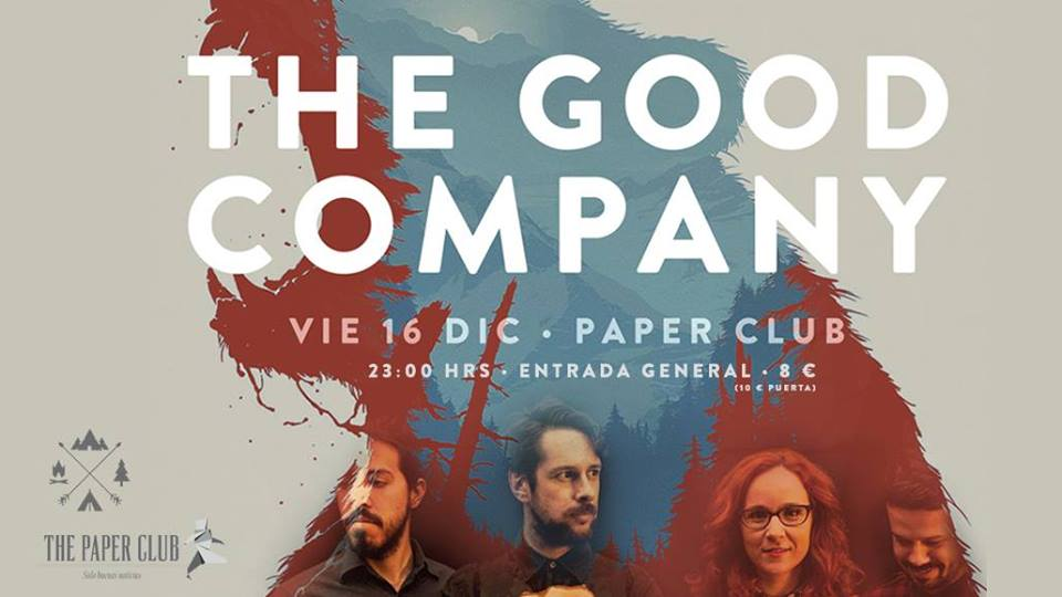 The Good Company to play The Paper Club at 11:00pm on Friday 16th December