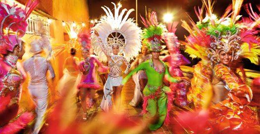 Carnaval op het vakantie eiland Gran Canaria
