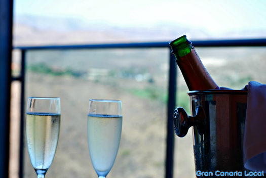 Cava time at Sheraton Gran Canaria